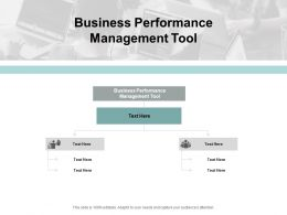 Business Performance Management Tool Ppt Powerpoint Presentation Outline Cpb