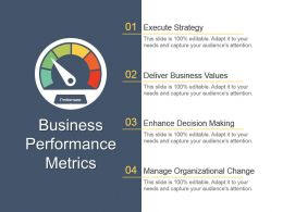 Business Performance Metrics Powerpoint Ideas