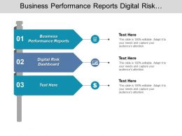 Business Performance Reports Digital Risk Dashboard Digital Finance Services Cpb