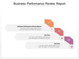 Business Performance Review Report Ppt Powerpoint Presentation Show Cpb