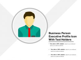 Business Person Executive Profile Icon With Text Holders