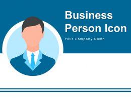 Business Person Icon Dollar Arrows Histogram Graph Success Gearwheel Conversation
