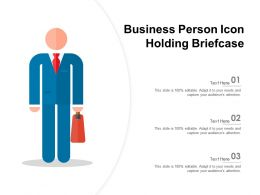Business Person Icon Holding Briefcase