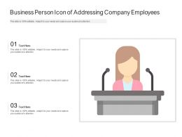Business Person Icon Of Addressing Company Employees