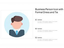 Business Person Icon With Formal Dress And Tie