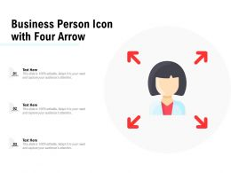 Business Person Icon With Four Arrow