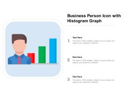 Business Person Icon With Histogram Graph