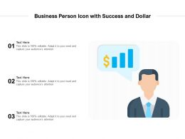 Business Person Icon With Success And Dollar