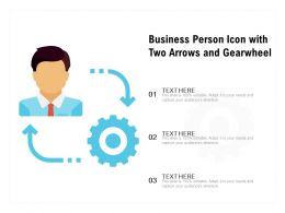 Business Person Icon With Two Arrows And Gearwheel