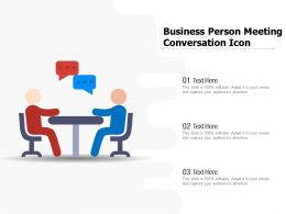 Business Person Meeting Conversation Icon