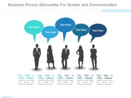 Business Person Silhouttes For Quotes And Communication Ppt Slide