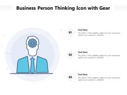 Business Person Thinking Icon With Gear