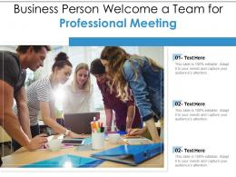 Business Person Welcome A Team For Professional Meeting Infographic Template