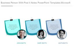 Business Person With Post It Notes Powerpoint Templates Microsoft