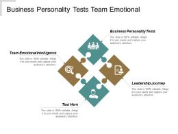 Business Personality Tests Team Emotional Intelligence Leadership Journey Cpb