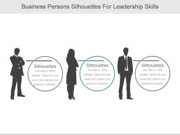 Business Persons Silhouettes For Leadership Skills