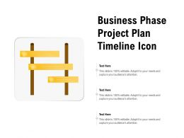 Business Phase Project Plan Timeline Icon