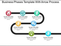 Business Phases Template With Arrow Process