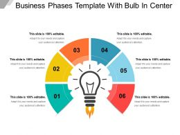 Business Phases Template With Bulb In Center
