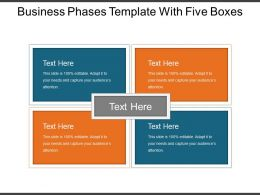 Business Phases Template With Five Boxes