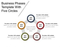 Business Phases Template With Five Circles