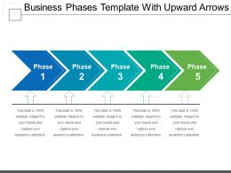 Business Phases Template With Upward Arrows