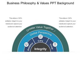 Business Philosophy And Values Ppt Background