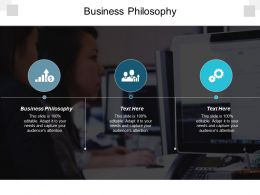 Business Philosophy Ppt Powerpoint Presentation File Vector Cpb