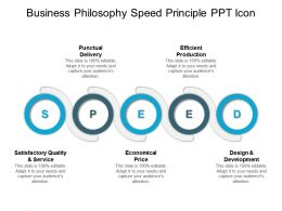Business Philosophy Speed Principle Ppt Icon