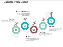 Business Pitch Outline Ppt Powerpoint Presentation Professional Guidelines Cpb