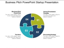 Business Pitch Powerpoint Startup Presentation Template Discounting Strategy Cpb