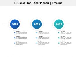 Business Plan 3 Year Planning Timeline