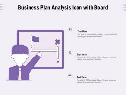 Business Plan Analysis Icon With Board