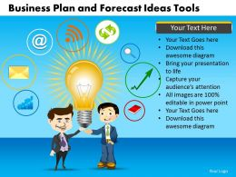 Business Plan And Forecast Ideas Tools Powerpoint Slides And Ppt Templates DB