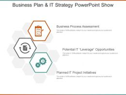 Business Plan And It Strategy Powerpoint Show
