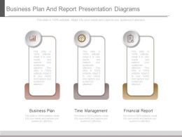 Business Plan And Report Presentation Diagrams