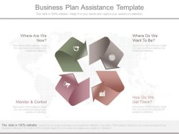 Business Plan Assistance Template Ppt Example Slides