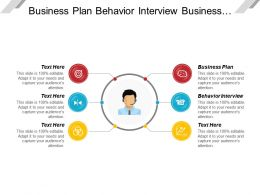 Business Plan Behavior Interview Business Financing Computer Application
