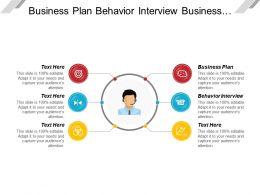Business Plan Behavior Interview Business Financing Computer Application
