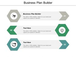 Business Plan Builder Ppt Powerpoint Presentation File Visuals Cpb