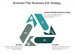 Business Plan Business Exit Strategy Ppt Powerpoint Presentation Gallery Portfolio Cpb