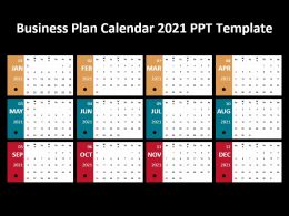Business Plan Calendar 2021 Ppt Template
