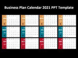 Business Plan Calendar 2021 Ppt Template