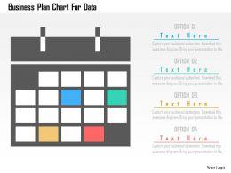 Business Plan Chart For Data Flat Powerpoint Design