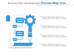 Business Plan Development Process Map Icon