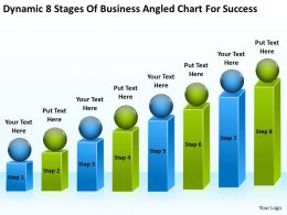 Business Plan Diagram Dynamic 8 Stages Of Angled Chart For Success Powerpoint Slides