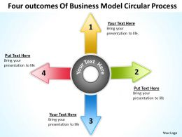 Business Plan Diagram Model Circular Process Powerpoint Templates PPT Backgrounds For Slides
