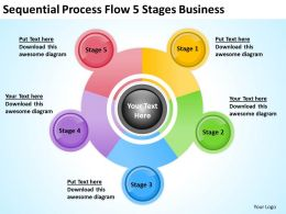 business_plan_diagram_sequential_process_flow_5_stages_powerpoint_templates_Slide01