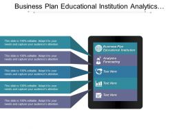 Business Plan Educational Institution Analytics Forecasting Search Engine Optimization Cpb