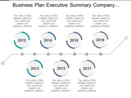 Business Plan Executive Summary Company Timeline